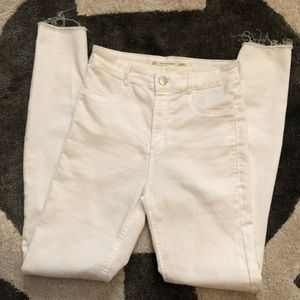 Zara knee-ripped jeans